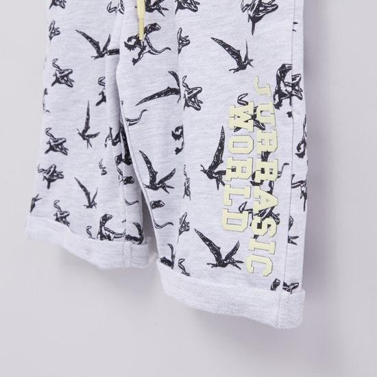Jurassic World Printed Shorts with Elasticised Waistband
