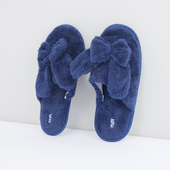 Bedroom Flip Flops with Plush Applique