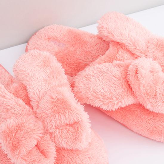 Bedroom Flip Flops with Plush Applique