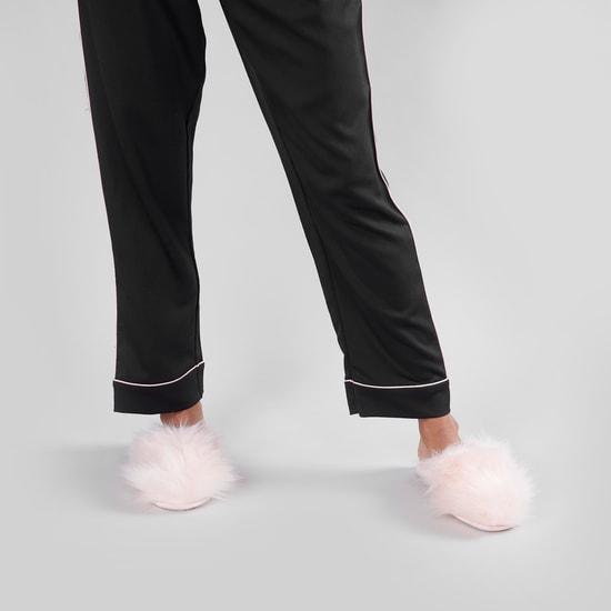Plush Slip-On Bedroom Slippers