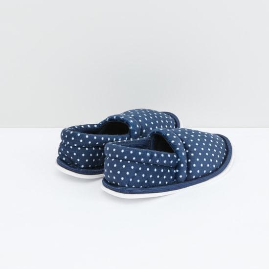 Polka Dot Printed Bedroom Shoes
