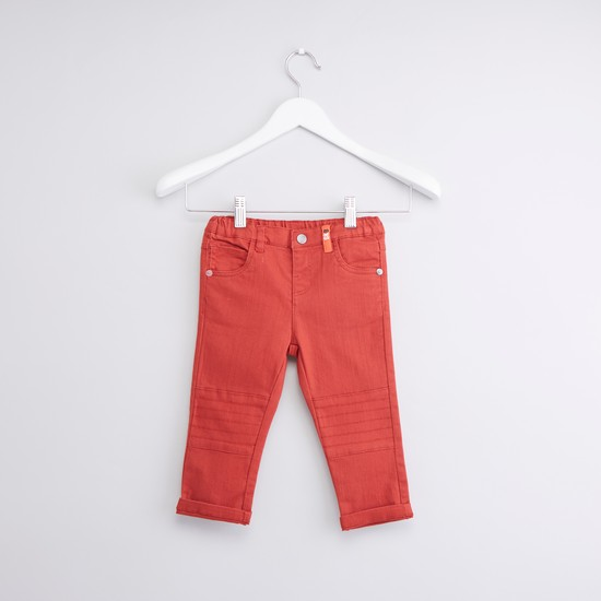 Full Length Pants with Pocket Detail and Belt Loops
