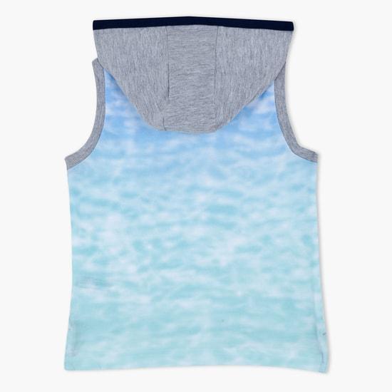 Sleeveless Hooded T-Shirt