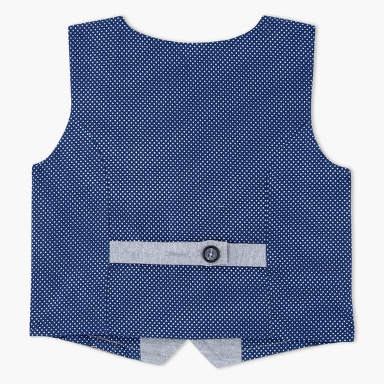 Sleeveless Waistcoat with Button Closure