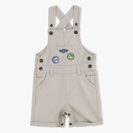 Short Dungarees with Applique Work