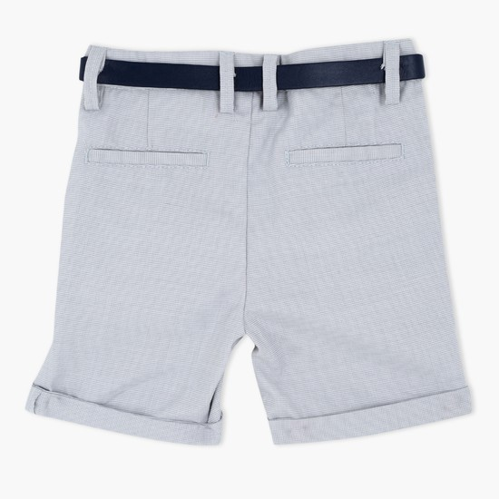 Woven Shorts with Belt