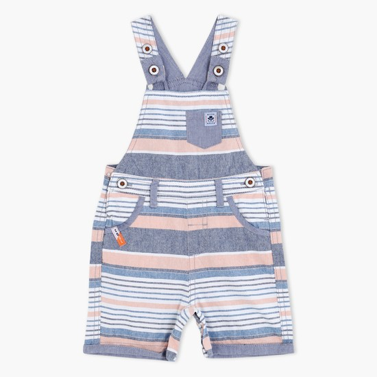 Striped Dungarees with Shoulder Straps