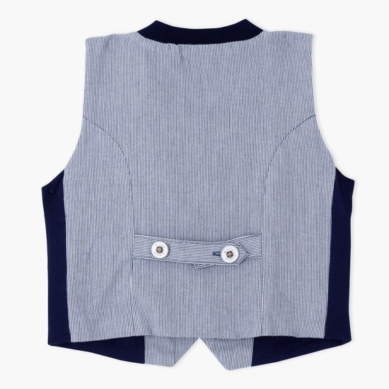 Sleeveless Waistcoat with Button Closure