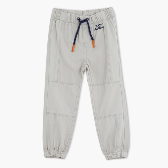 Jog Pants with Elasticised Waistband and Cuffs