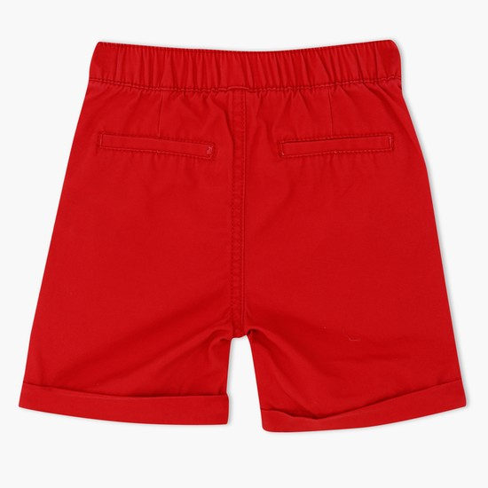 Woven Shorts with Elasticised Waistband and Appliques