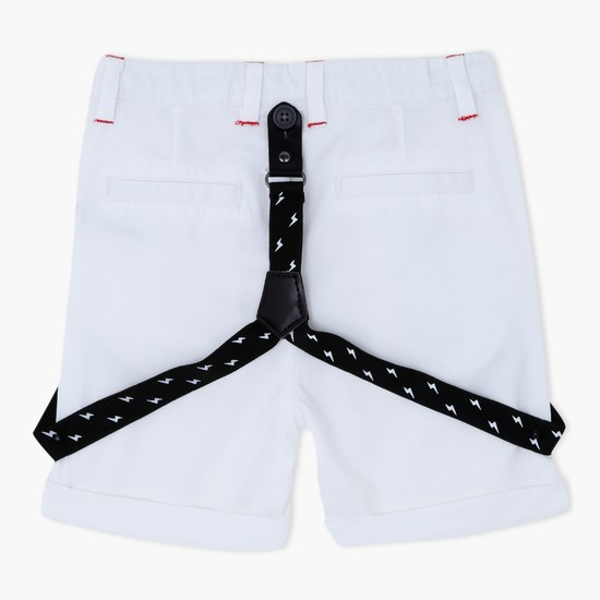 Ribbed Shorts with Suspenders
