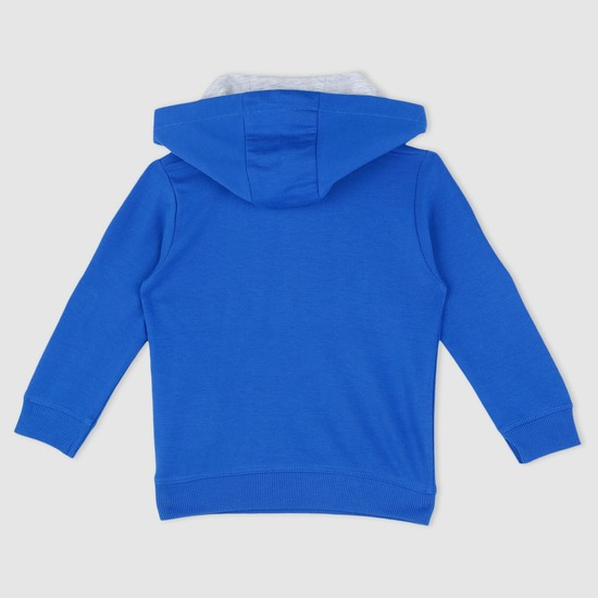 Embroidered Sweatshirt with Hood and Long Sleeves