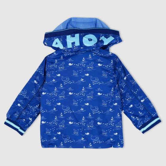 Printed Long Sleeves Jacket with Hood