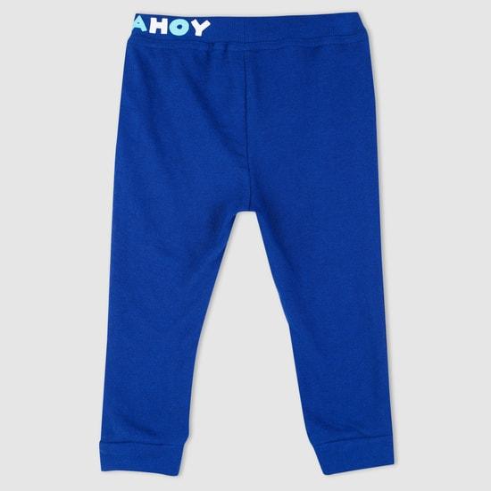 Printed Full Length Jog Pants with Pocket Detail