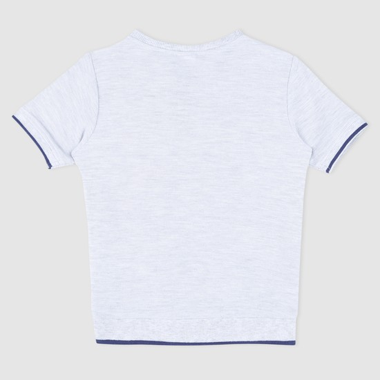 Printed Henley Neck T-Shirt