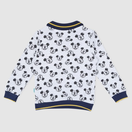 Mickey Mouse Printed Long Sleeves Sweat Top