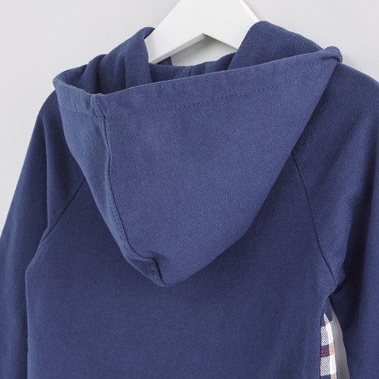 Chequered Raglan Sleeves Shacket