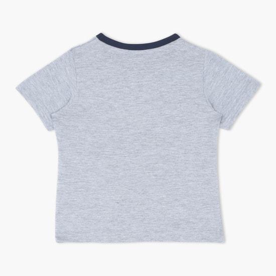 Graphic Print Short Sleeves Round Neck T-Shirt
