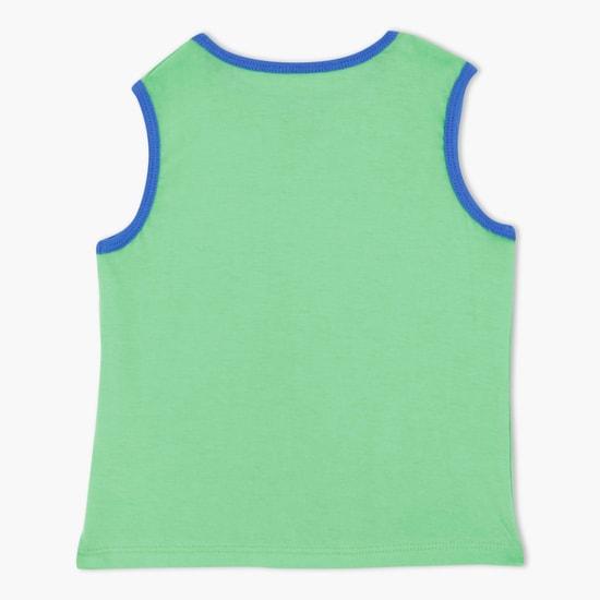 Sleeveless Printed T-Shirt