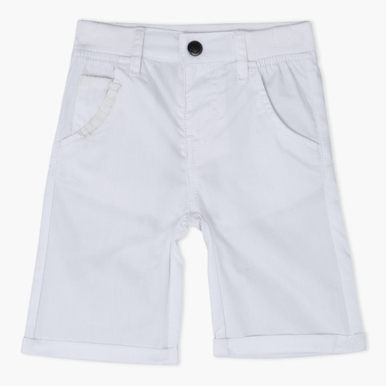 Bermuda Shorts with Button Closure