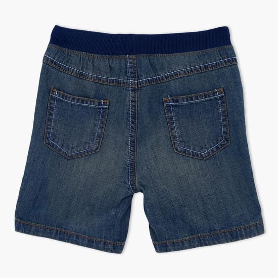 Elasticised Waistband Denim Shorts