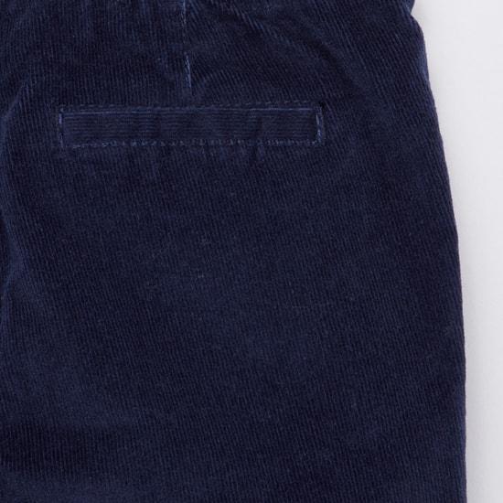 Corduroy Pants with Elasticated Drawstring Waistband