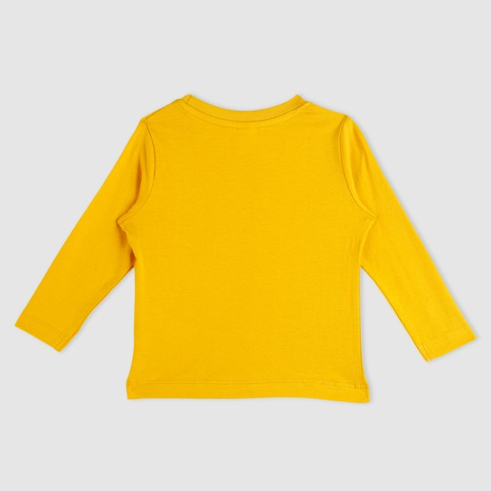 Long Sleeves Round Neck T-Shirt with Chest Pocket