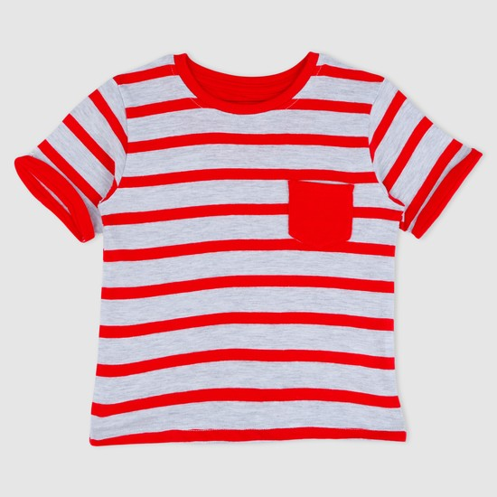 Striped T-Shirt with Short Sleeves
