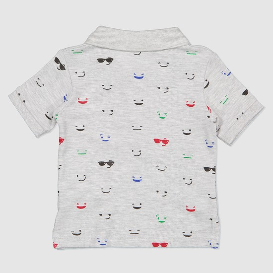 Printed Polo Neck T-Shirt