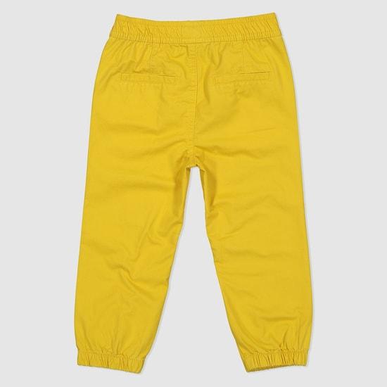 Full Length Woven Jog Pants with Elasticised Waistband
