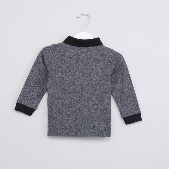 Polo Neck Long Sleeves T-Shirt