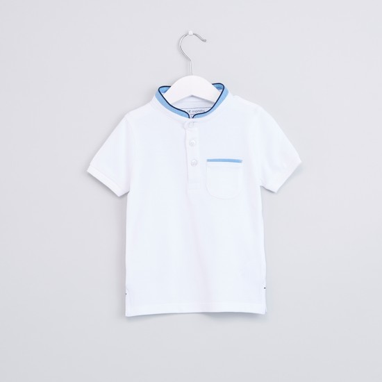 Mandarin Collar Short Sleeves T-Shirt