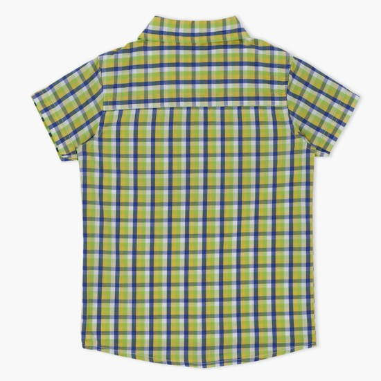 Chequered Printed Short Sleeves Shirt