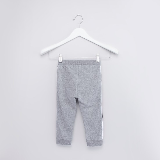Textured Jog Pants with Elasticated Drawstring Waist