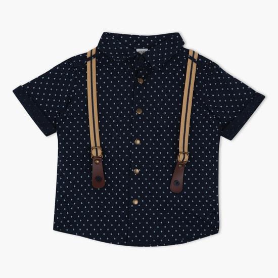 Printed Shirt with Short Sleeves
