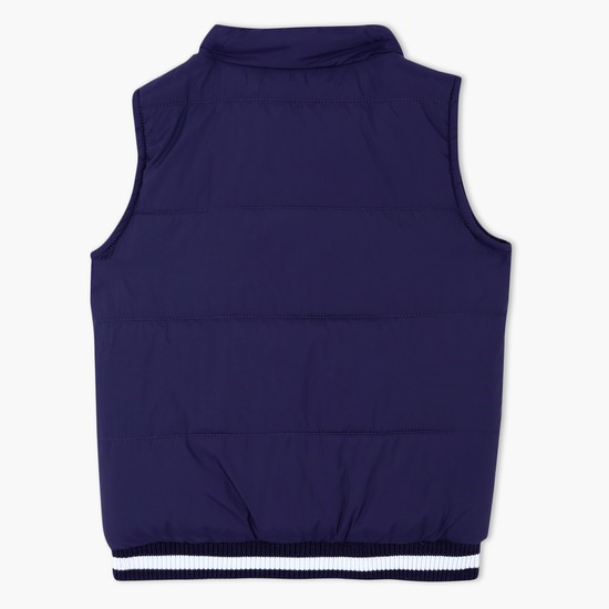 Padded Gilet with Zip Closure