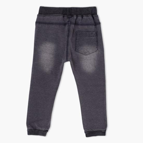 Denim Jog Pants with Elasticised Waistband