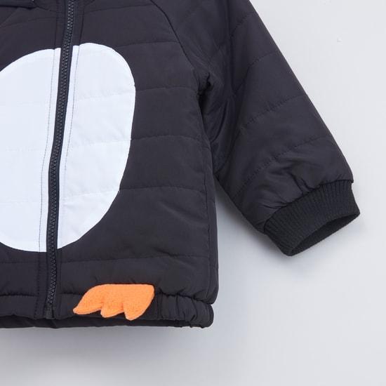 Printed Raglan Sleeves Jacket