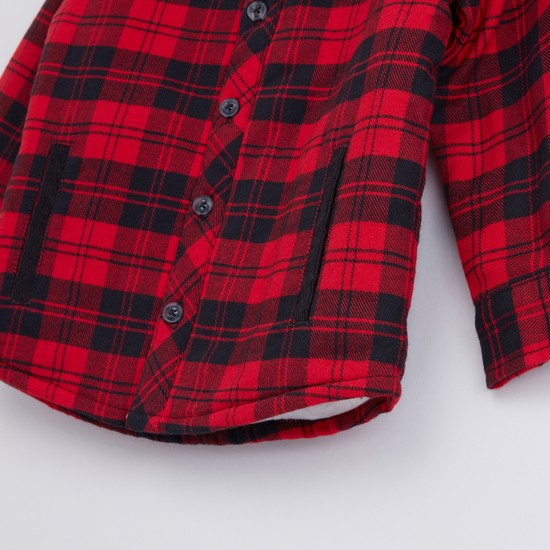 Chequered Long Sleeves Shacket