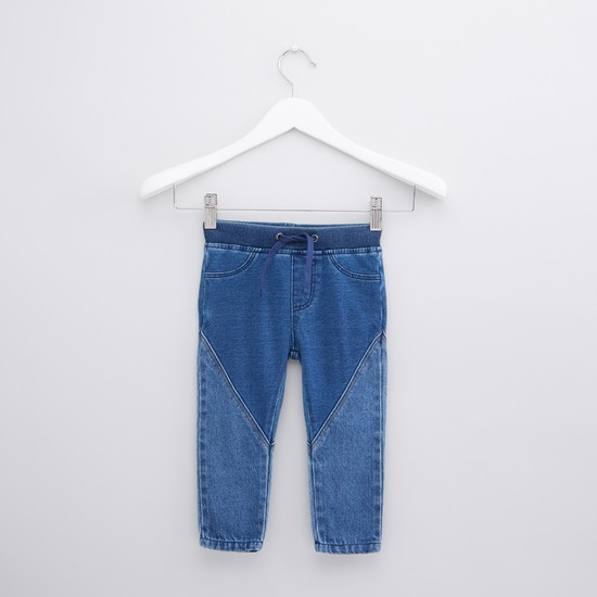 Full Length Jeans with Drawstring and Pocket Detail