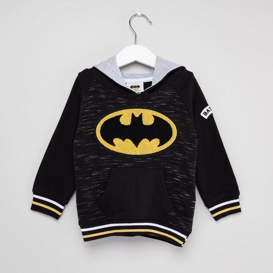Batman Print Sweatshrit and Jog Pants Set