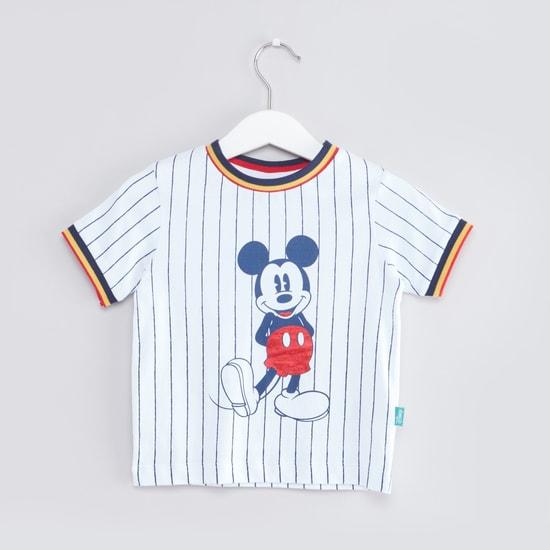 Mickey Mouse Printed 3-piece Jog Pants Set