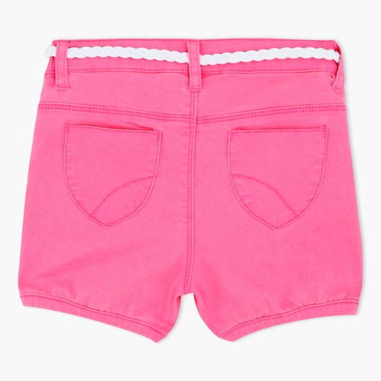 Elasticated Shorts with Belt