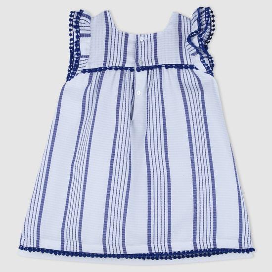 Printed Lace Detail Dress