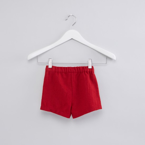 Ruffle Detail Shorts with Stockings