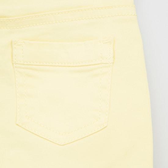 Pocket Detail Capris with Button Closure