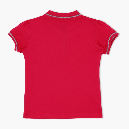 Short Sleeves Polo Neck T-Shirt