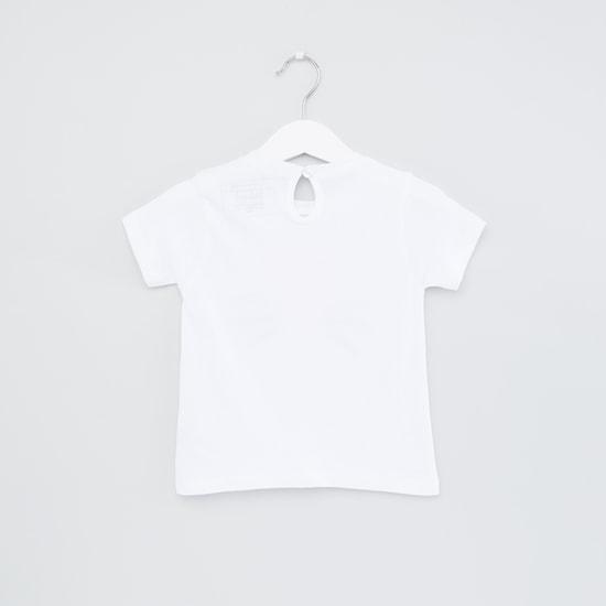 Printed Round Neck Short Sleeves Top