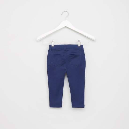 Bow and Pocket Detail Trousers with Button Closure