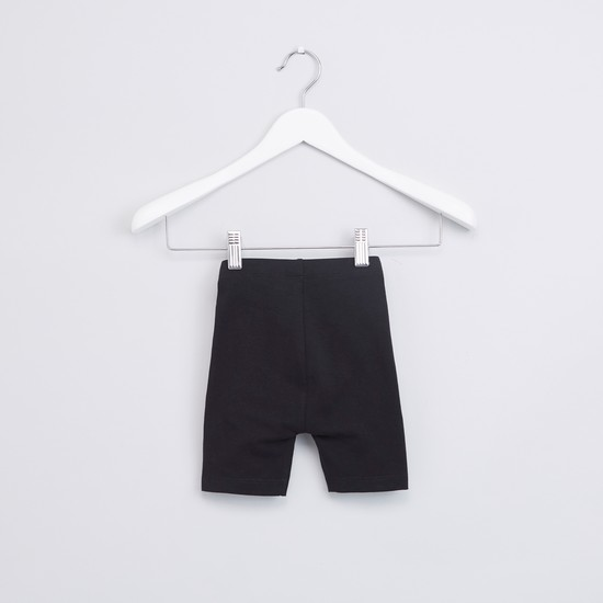 Bow Detail Shorts with Elasticised Waistband - Set of 2